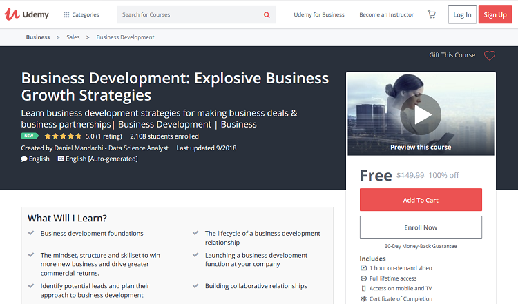 Business Development: Explosive Business Growth Strategies